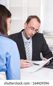 Staff - recruitment. Businessman in an interview.