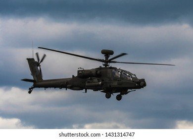 Staffordshire, England - 06/2019: Apache AH-64 display - no press credentials required