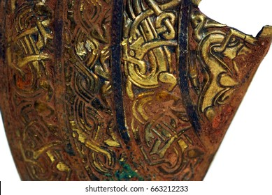 Staffordshire Hoard, largest hoard of Anglo-Saxon gold ever found  Cheek Piece