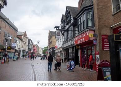 Stafford,Staffordshire/England - 17 June 2019: Greengate Street Stafford
