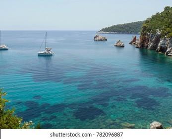 Stafilos beach on Skopelos island