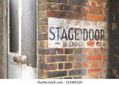 Stage door entrance of an old theater