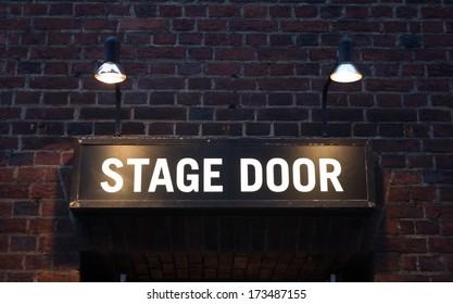 Stage Door Sign