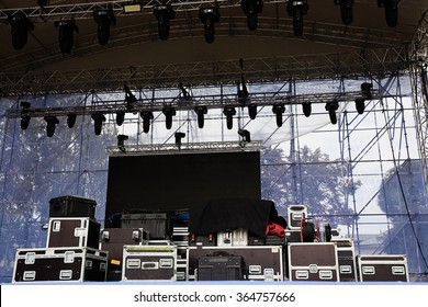 stage equipment for a concert