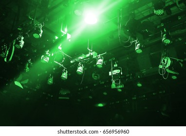 stage light on ceiling