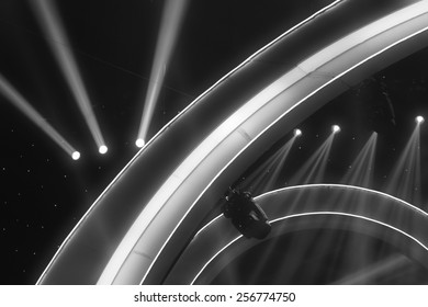 stage lighting effect in the dark