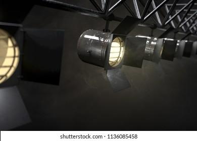 Stage lights (3D Rendering)
