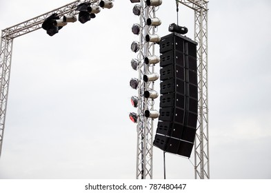 Stage lights at the concert - Shutterstock ID 787480447