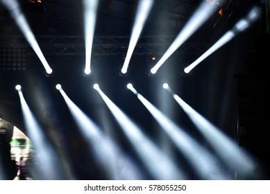 Stage lights at a live concert