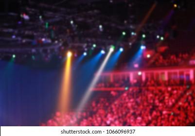 Stage lights on a concert.