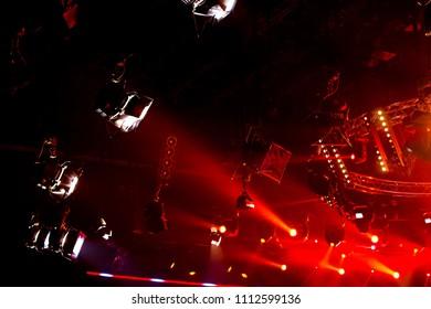 Stage lights - Studio prepared for TV show