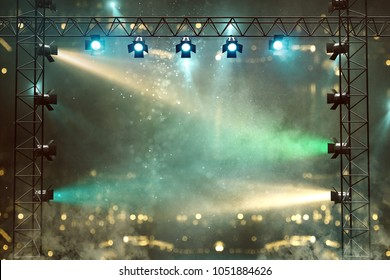 Stage with lightshow (3D Rendering)