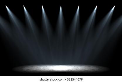 stage parallel light C 3d rendering