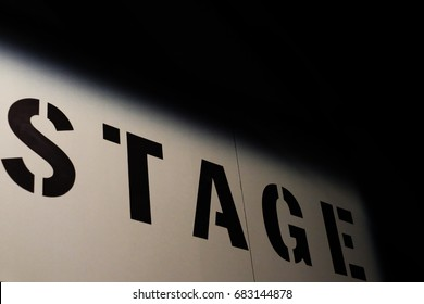Stage sign at theatre / theater or concert hall