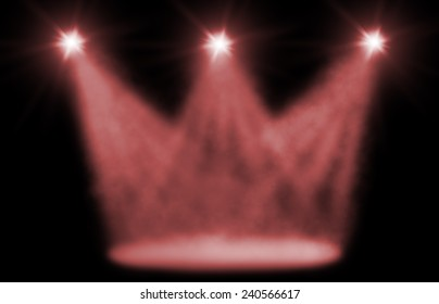 stage spot lighting background red