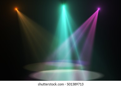 stage spot lighting  background with space for your message