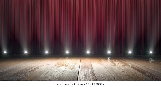 Stage with spotlight background concept.