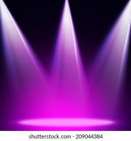 Stage theater on violet background