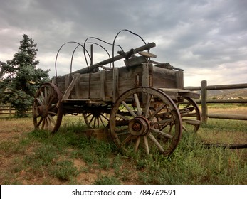 Stagecoach covered wagon rustic American old west