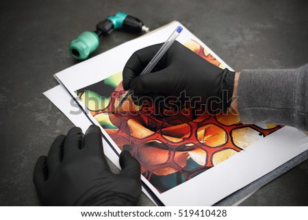 Stages Creating Tattoo Tattoo Designs Tattoo Stock Photo (Edit Now ...