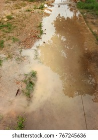 stagnant water in the road abstact
