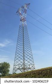 Stagno Lombardo (Cr),Italy,  an electricity pylon