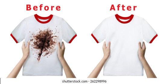 Stain Remover Experiment, Before and After Washing