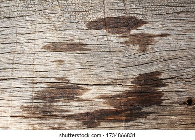 Stain of water on wood background