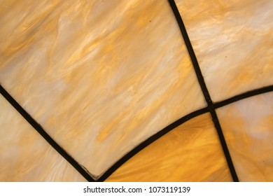 Staind Glass and Lead frame close up background image
