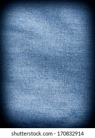 Stained denim fabric