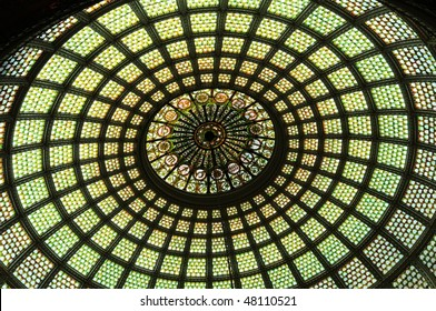 Stained glass dome of Chicago Cultural Center