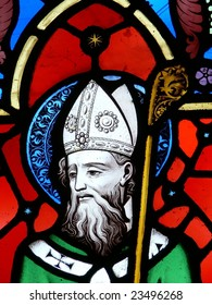 Stained glass image, St. Patrick
