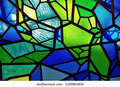 Stained glass mosaic background