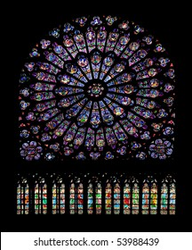 stained glass notre-dame paris