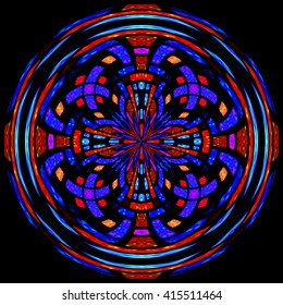 Stained glass round rosette