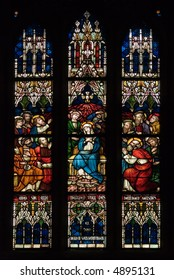 Stained Glass Window of Christian Church