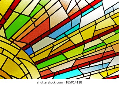 Stained glass window detail