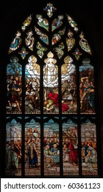 Stained glass window. St. Giles Cathedral. Edinburgh. Scotland. UK.