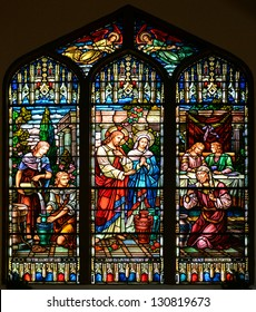 Stained Glass Window of St Paul's Episcopal Church, Key West, Florida, USA