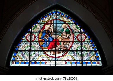 Stained Glass-Image of the stained glass window