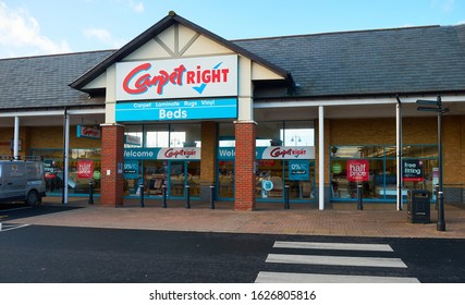Staines-upon-Thames,Middlesex/United Kingdom-15th January 2020: The Carpetright store located at Two Rivers Shopping in Staines-upon-Thames.