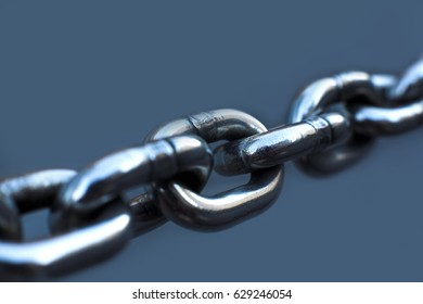 stainless chain close up