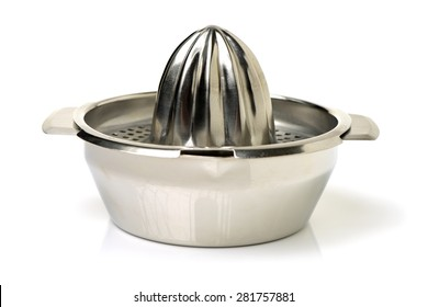 Stainless Juicer squeezer on white background
