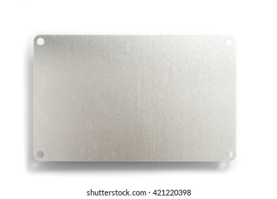 Stainless Plate for Machine on White background