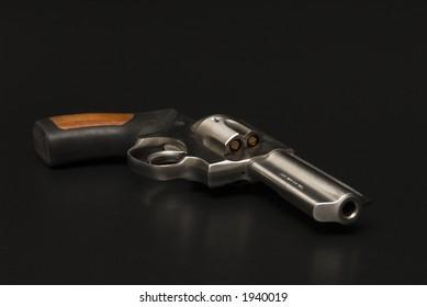 Stainless Steel .375 Magnum revolver.