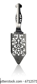 Stainless Steel Absinthe Spoon isolated on white background