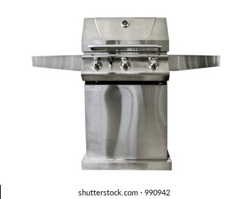 Stainless steel barbeque isolated