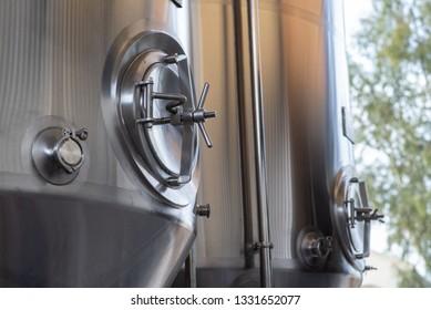 Stainless steel beer tanks