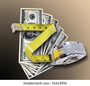 Stainless steel caliper & money