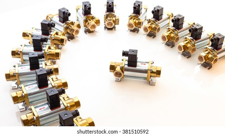 Stainless steel coax valves